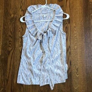 Banana Republic Button up blouse with tie